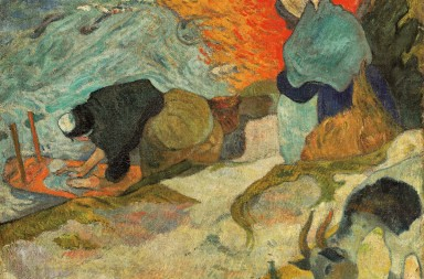 lavanderas en aries, paul gauguin