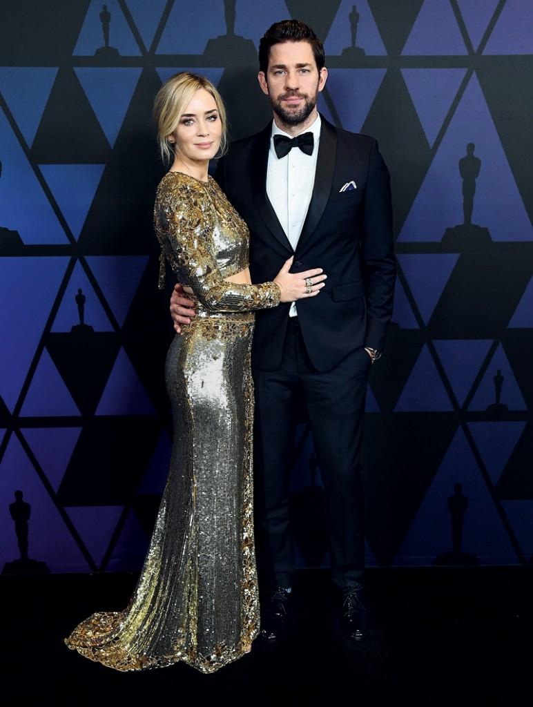 Emily Blunt y su marido John Krasinski