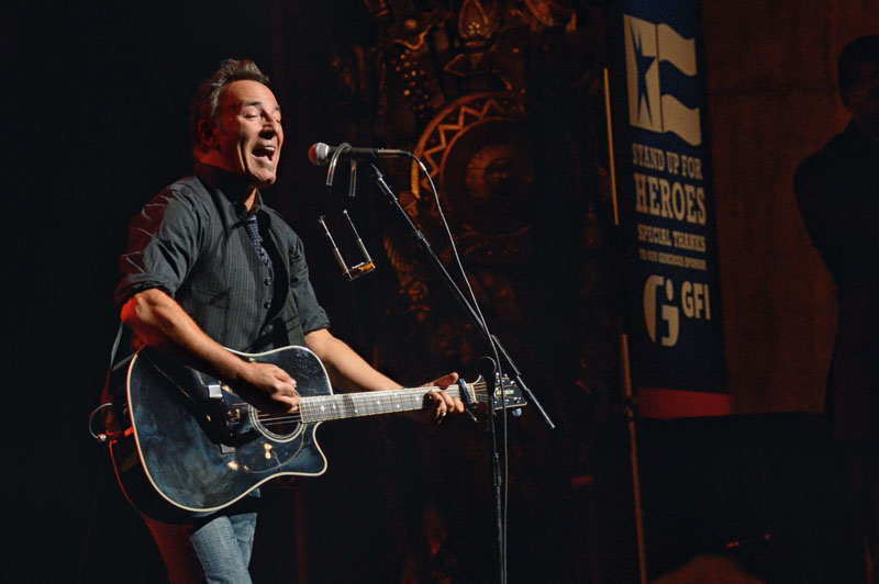 NEW YORK, NY - NOVEMBER 08: Bruce Springsteen performs onstage at the 6th Annual Stand Up For Heroes at the Beacon Theatre on November 8, 2012 in New York City. (Photo by Mike Coppola/Getty Images)