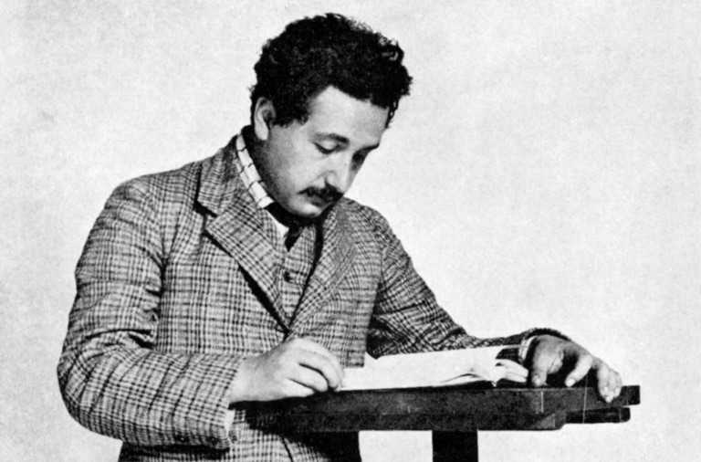 Albert Einstein (1879-1955) German-Swiss mathematician: Relativity: Einstein in 1905 aged 26