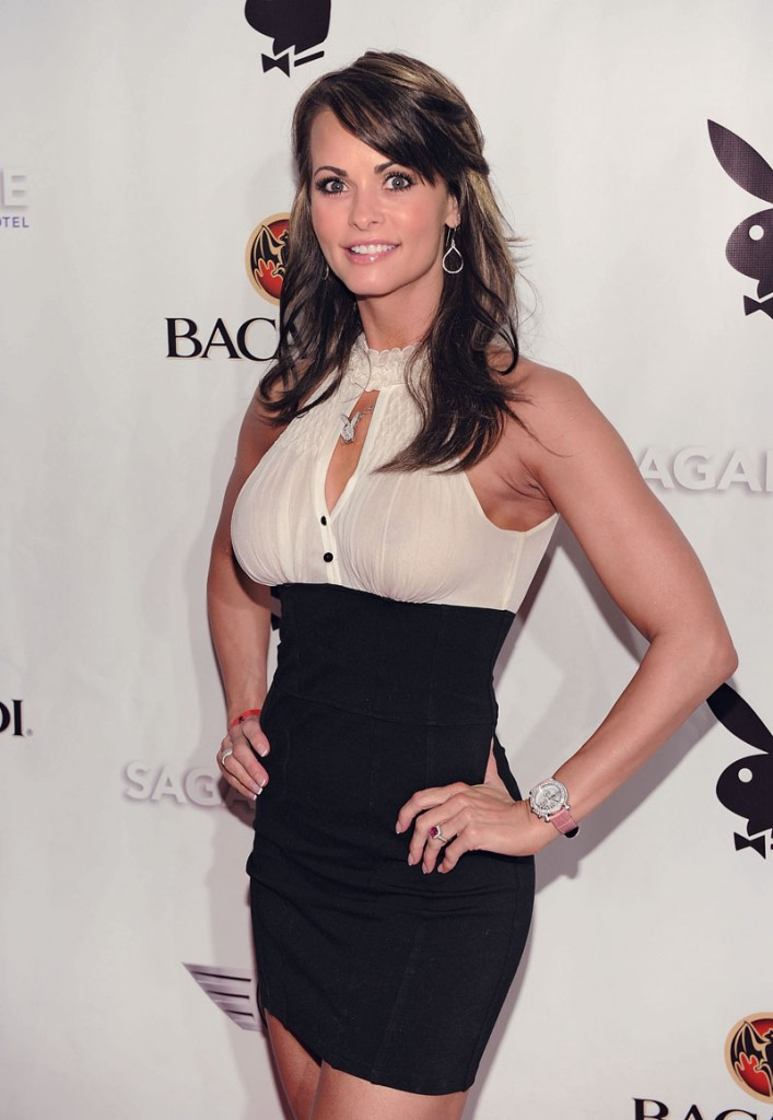MIAMI BEACH, FL - FEBRUARY 06: Karen McDougal attends Playboy's Super Saturday Night Party at Sagamore Hotel on February 6, 2010 in Miami Beach, Florida. (Photo by Dimitrios Kambouris/Getty Images for Playboy)