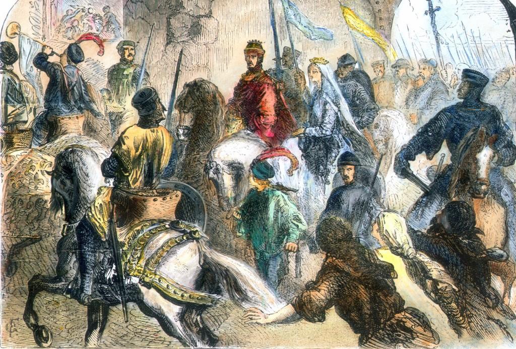 leonor de Aquitania y Enrique ii
