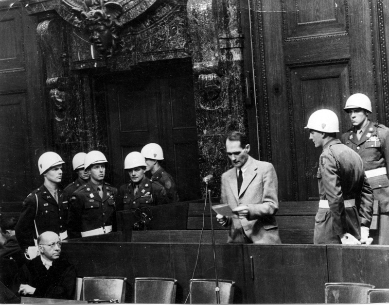 Nuremberg Trials 1946 - Defendant Hess