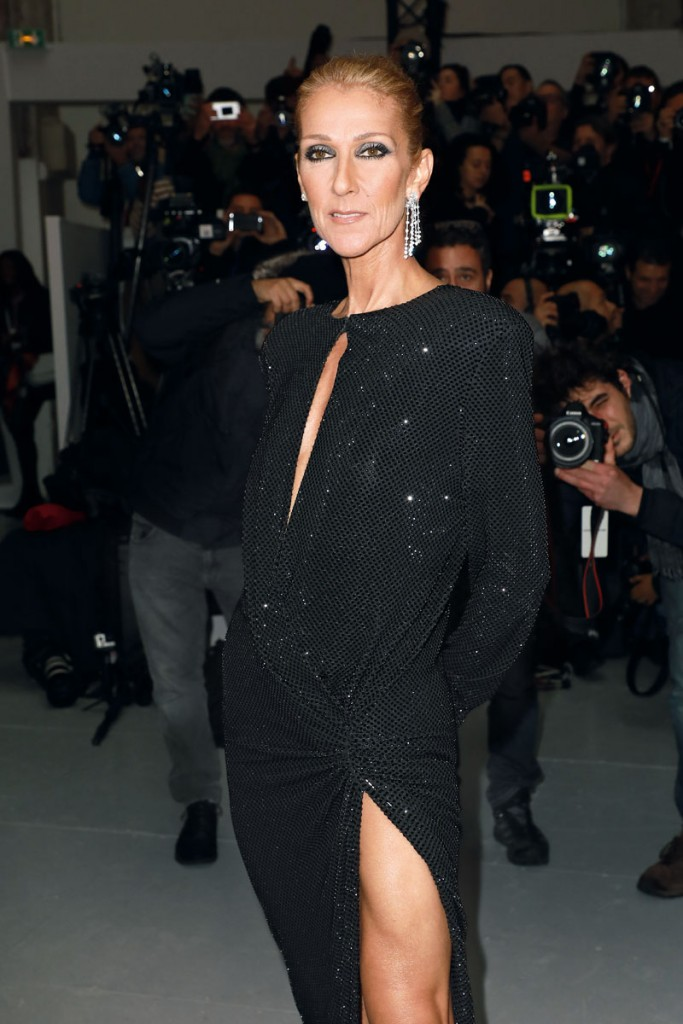 PARIS, FRANCE - JANUARY 22: Singer Celine Dion attends the Alexandre Vauthier Haute Couture Spring Summer 2019 show as part of Paris Fashion Week on January 22, 2019 in Paris, France. (Photo by Pierre Suu/Getty Images)