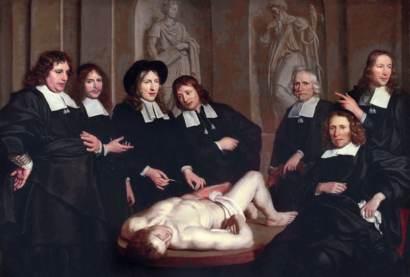 The Anatomy Lesson of Dr. Frederik Ruysch, 1670. Artist: Backer, Adriaen (ca 1635-1684) (Photo by Fine Art Images/Heritage Images/Getty Images)