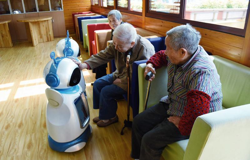 robot inteligencia artificial ancianos
