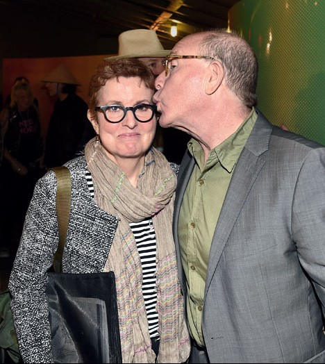 NEW YORK, NY - SEPTEMBER 10: Roberta Smith and Jerry Saltz attend the Glenn O'Brien Memorial Celebration at SVA Theatre on September 10, 2017 in New York City. (Photo by Patrick McMullan/Patrick McMullan via Getty Images)