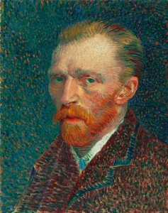 Vincent van Gogh - Self-Portrait 1887 Painting current location, Art Institute of Chicago