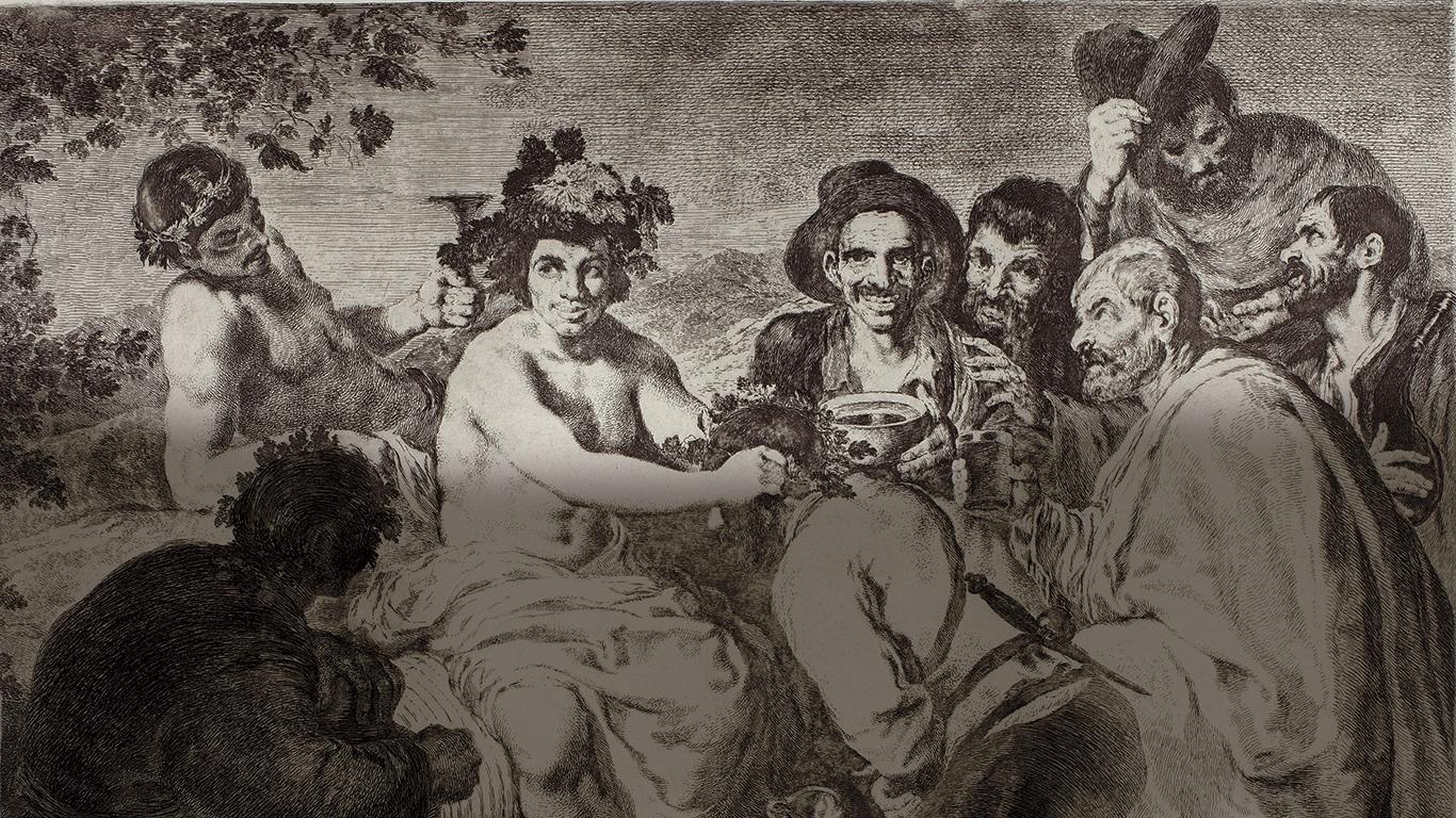 Goya dibujando a Velázquez